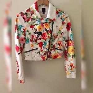 2B Bebe Jeans Floral Jacket size S